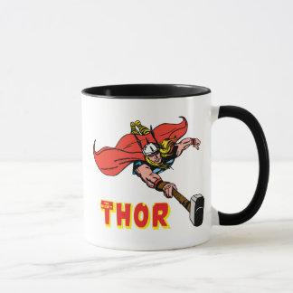 Thor Flying With Mjolnir Mug