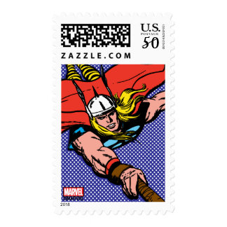Thor Flying With Mjolnir Postage