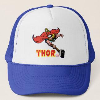 Thor Flying With Mjolnir Trucker Hat