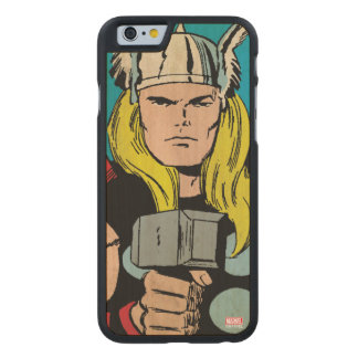 """Thor """"God of Thunder"""" Comic Panel Carved® Maple iPhone 6 Case"""