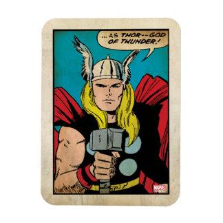 """Thor """"God of Thunder"""" Comic Panel Magnet"""