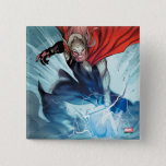 Thor Hammer Comic Panel Button