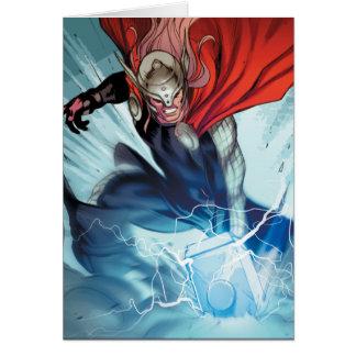 Thor Hammer Comic Panel Card