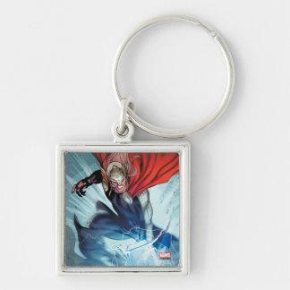 Thor Hammer Comic Panel Keychain