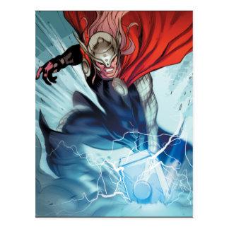 Thor Hammer Comic Panel Postcard