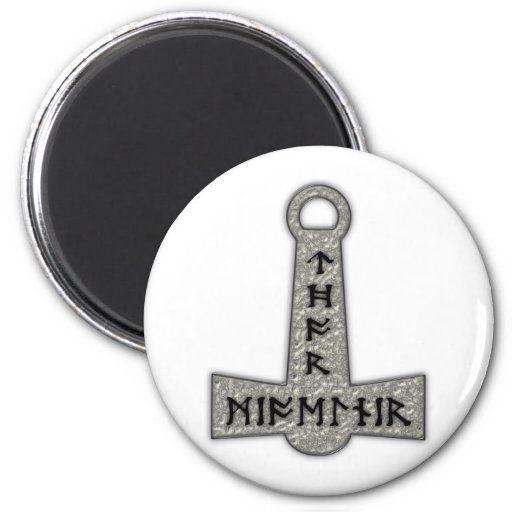 Thor hammer Mjölnir Fridge Magnets