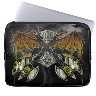 Thor Hammer of the Gods Guitars Laptop Computer Sleeve