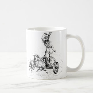 Thor in his Chariot Coffee Mug