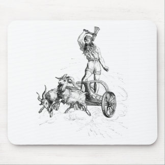 Thor in his Chariot Mouse Pad