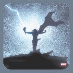 Thor Lightning Comic Panel Square Sticker