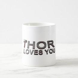 THOR LOVES YOU COFFEE MUG