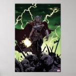 Thor Over Slain Enemies Poster