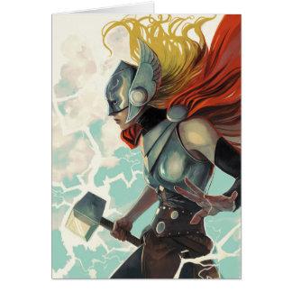 Thor Profile With Mjolnir Card