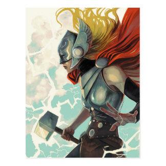Thor Profile With Mjolnir Postcard