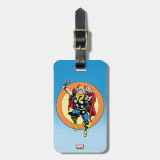 Thor Punch Attack Retro Graphic Bag Tag