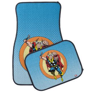 Thor Punch Attack Retro Graphic Car Floor Mat