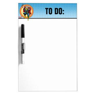 Thor Punch Attack Retro Graphic Dry-Erase Board