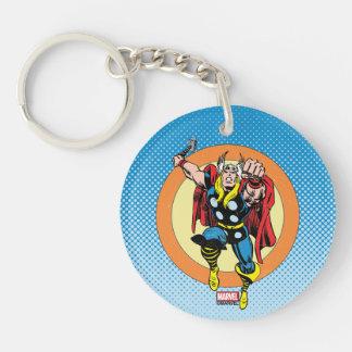 Thor Punch Attack Retro Graphic Keychain