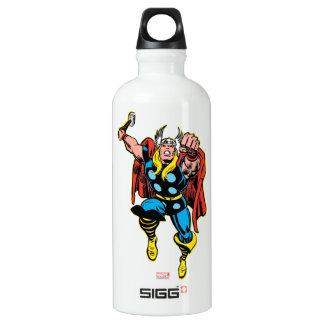 Thor Punching Attack Aluminum Water Bottle
