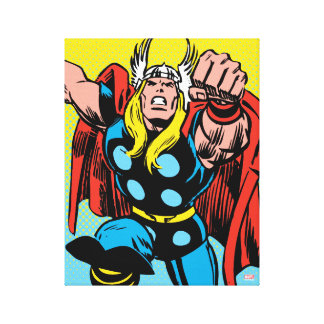 Thor Punching Attack Canvas Print