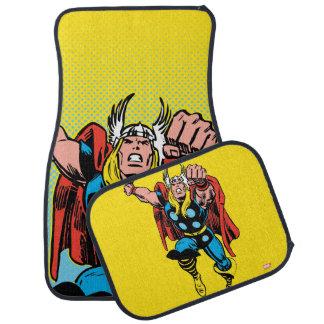 Thor Punching Attack Car Floor Mat
