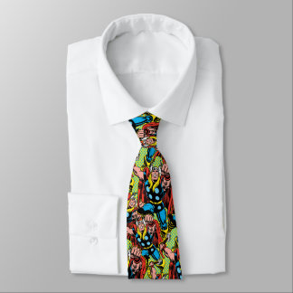 Thor Punching Attack Neck Tie