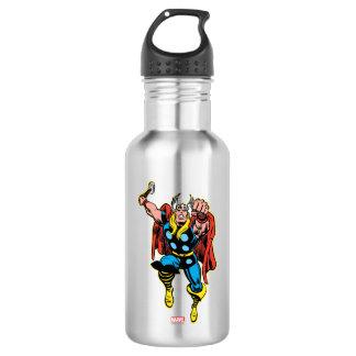 Thor Punching Attack Water Bottle