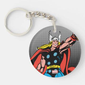 Thor que aumenta Mjolnir Llavero Redondo Acrílico A Doble Cara