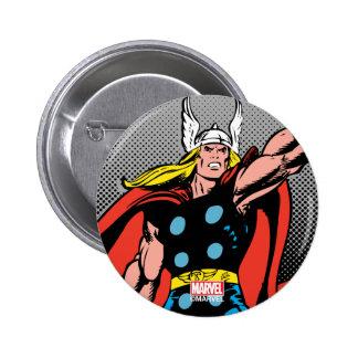 Thor que aumenta Mjolnir Pin Redondo De 2 Pulgadas