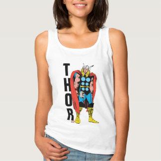 Thor que coloca arte cómico retro alto playera con tirantes