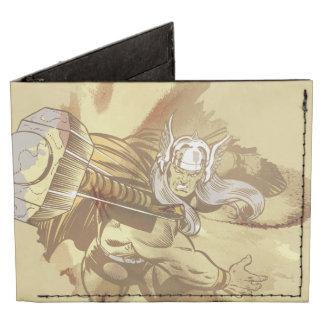 Thor que lanza Mjolnir Billeteras Tyvek®