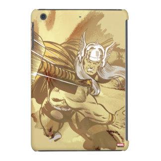 Thor que lanza Mjolnir Carcasa Para iPad Mini