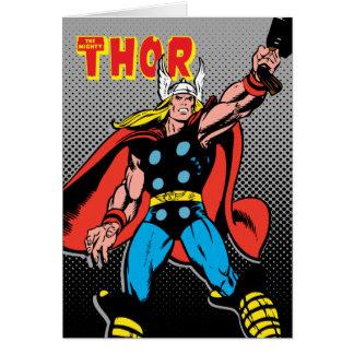 Thor Raising Mjolnir Card