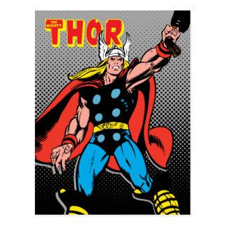 Thor Raising Mjolnir Postcard