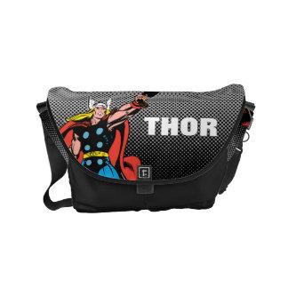 Thor Raising Mjolnir Small Messenger Bag