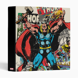 Thor Retro Comic Collage Binder