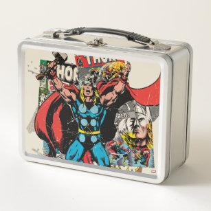 f77153285f1e Thor Retro Comic Collage Metal Lunch Box