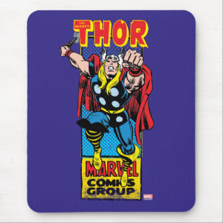 Thor Retro Comic Graphic Mouse Pad