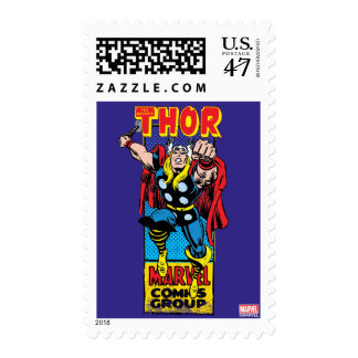 Thor Retro Comic Graphic Postage