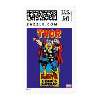 Thor Retro Comic Graphic Postage