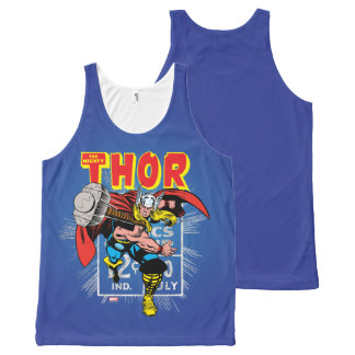 Thor Retro Comic Price Graphic All-Over-Print Tank Top