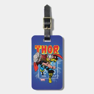 Thor Retro Comic Price Graphic Bag Tag