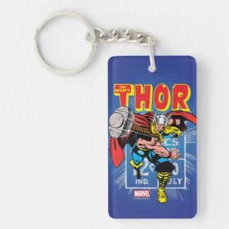 Thor Retro Comic Price Graphic Keychain