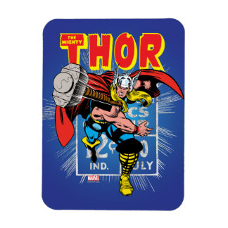 Thor Retro Comic Price Graphic Magnet