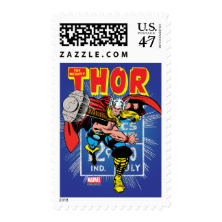 Thor Retro Comic Price Graphic Postage