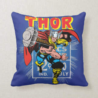 Thor Retro Comic Price Graphic Throw Pillow