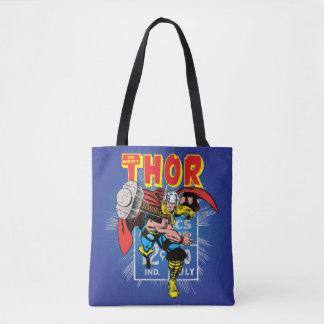 Thor Retro Comic Price Graphic Tote Bag