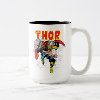Thor Retro Comic Price Graphic Two-Tone Coffee Mug