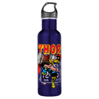 Thor Retro Comic Price Graphic Water Bottle