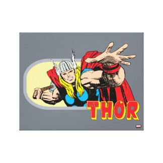 Thor Retro Graphic Canvas Print